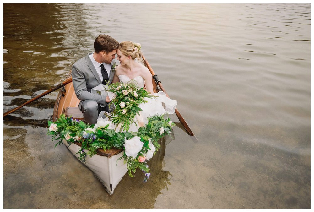 Lake side inspired wedding shoot at San Moritz Lodge