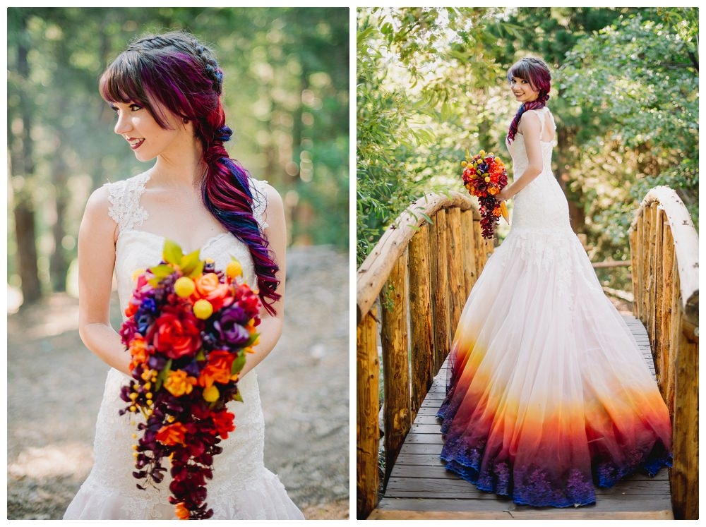 Airbrushed wedding dress