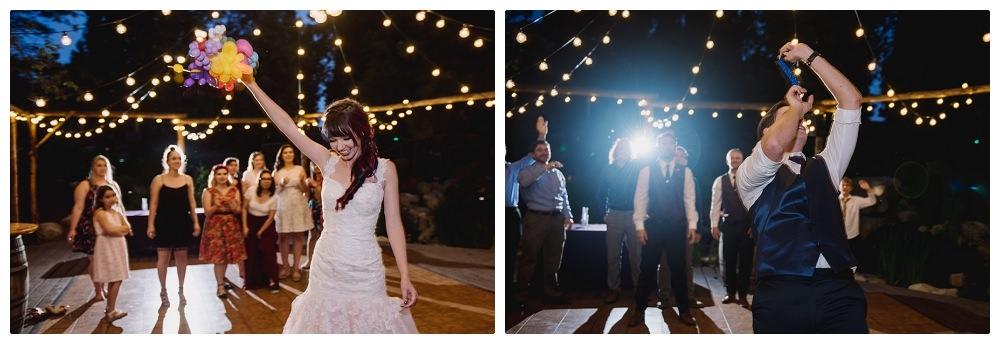 Airbrushed wedding dress